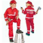 Gurimo-Tex Kinderkostüm Feuerwehrmann rot