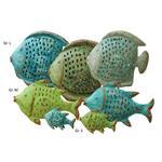Grün&Form Windlicht Fisch Shabby-Look drei Farben 3 Größen