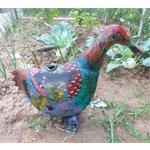 Jones-Antiques Gießkanne Ente Shabby-Look in zwei Farben