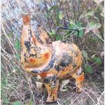 Jones-Antiques Gießkanne Schwein Shabby-Look in zwei Farben