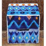 Gall & Zick Spardose Keramik bemalt in 3 Farben
