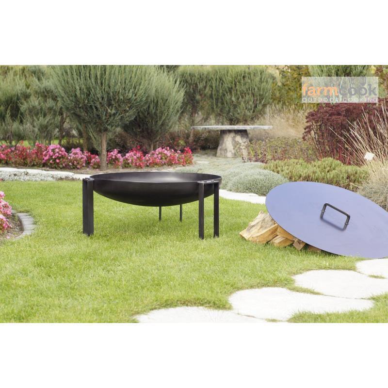 farmcook abdeckung f r feuerschale feuerschalendeckel 3 gr en ebay. Black Bedroom Furniture Sets. Home Design Ideas