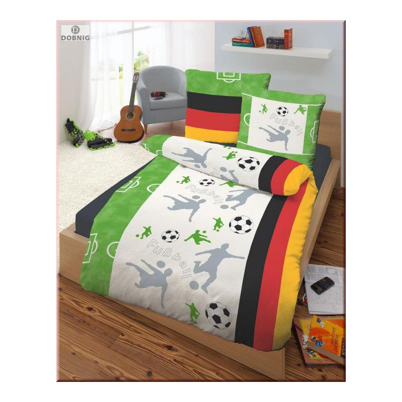 dobnig kinder bettw sche fu ball fein biber kotex. Black Bedroom Furniture Sets. Home Design Ideas