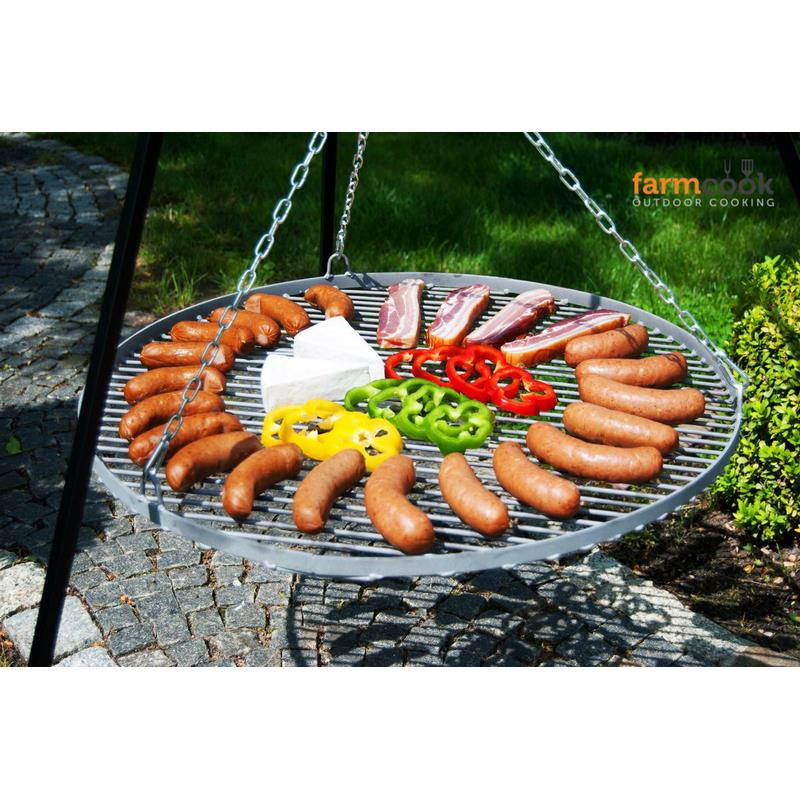 Farmcook barbecue grid steel sand blasted for hanging grills 4 sizes to 80 cm - Grille barbecue 80 cm ...