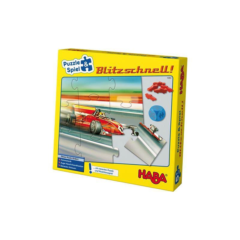 haba 4303 puzzle spiel blitzschnell ab 3 jahren ebay. Black Bedroom Furniture Sets. Home Design Ideas
