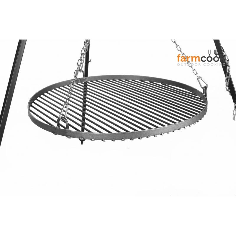 Farmcook hanging grill viking steel with fire bowl pan 38 for Hanging fire bowl