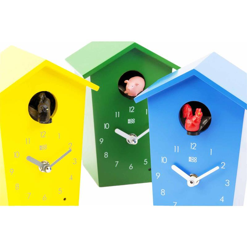 kookoo kinder wanduhr standuhr mit tierstimmen animal house ebay. Black Bedroom Furniture Sets. Home Design Ideas