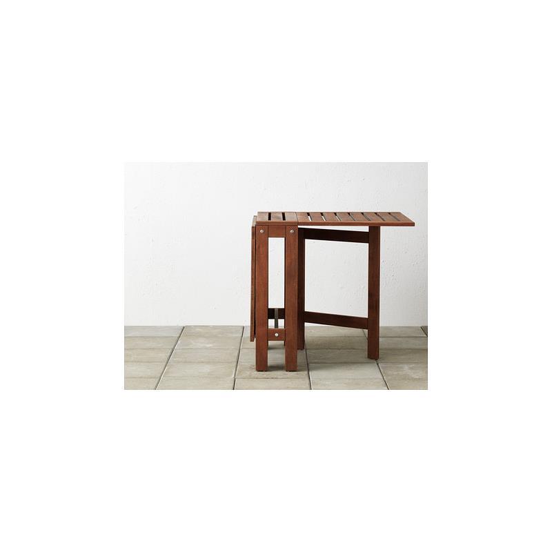 ikea gartentisch pplar klapptisch akazie massiv ebay. Black Bedroom Furniture Sets. Home Design Ideas
