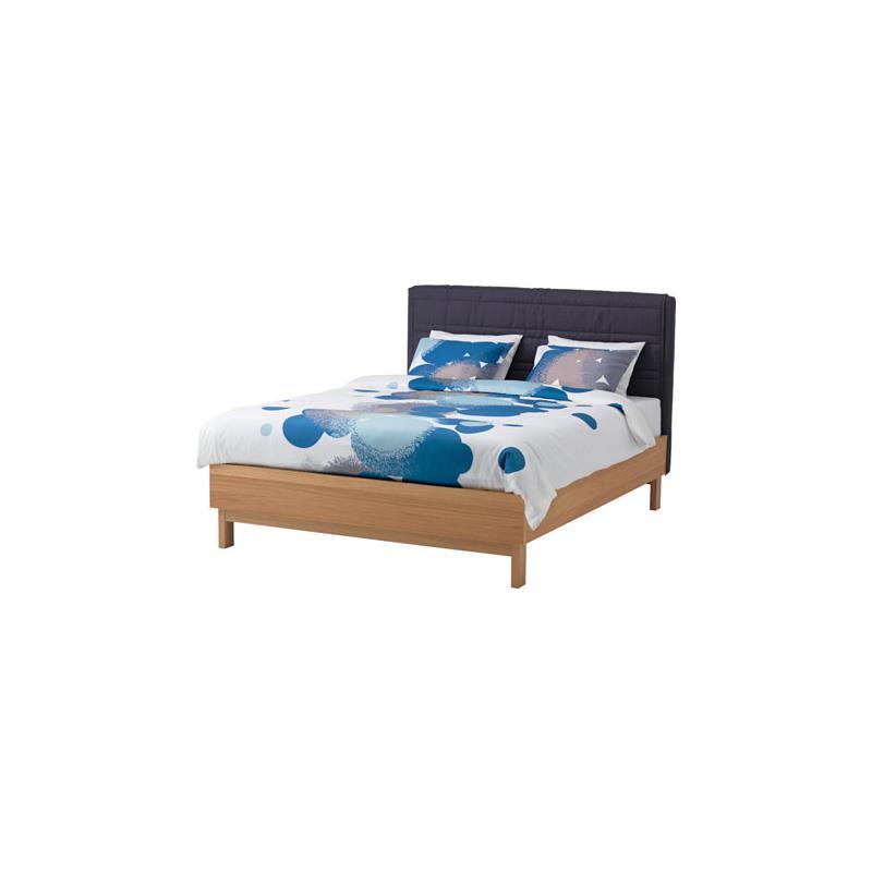 ikea linge de lit bolltistel bleu trois tailles satin ebay. Black Bedroom Furniture Sets. Home Design Ideas