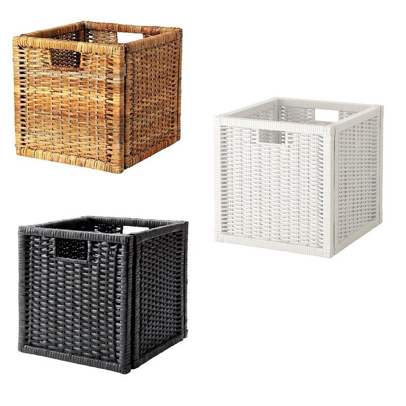 ikea storage box basket bran s for kallax and expedit ebay. Black Bedroom Furniture Sets. Home Design Ideas