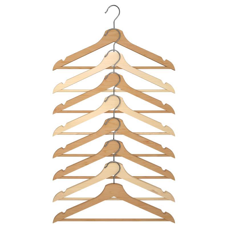 ikea kleiderb gel bumerang holz 8 st ck ebay. Black Bedroom Furniture Sets. Home Design Ideas