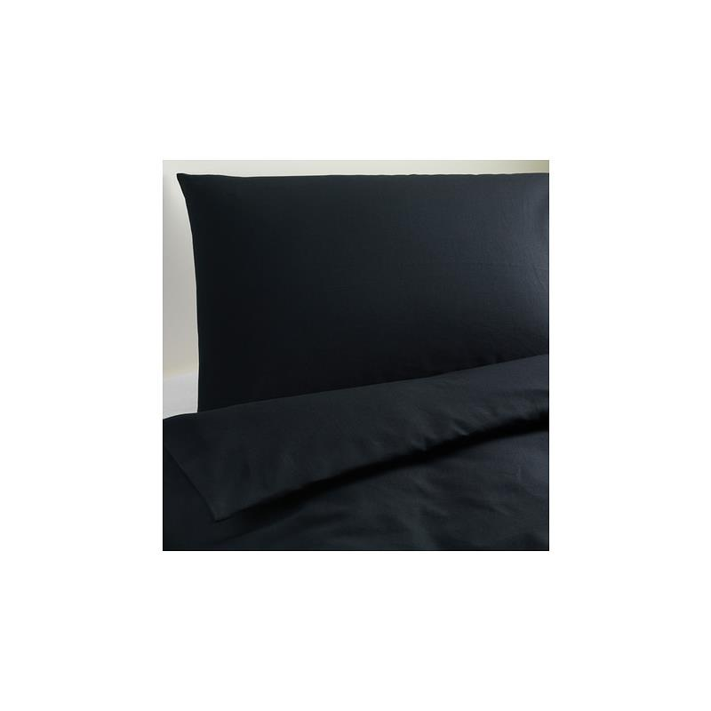ikea bettw sche dvala schwarz 140x200 155x220 220x240 ebay. Black Bedroom Furniture Sets. Home Design Ideas