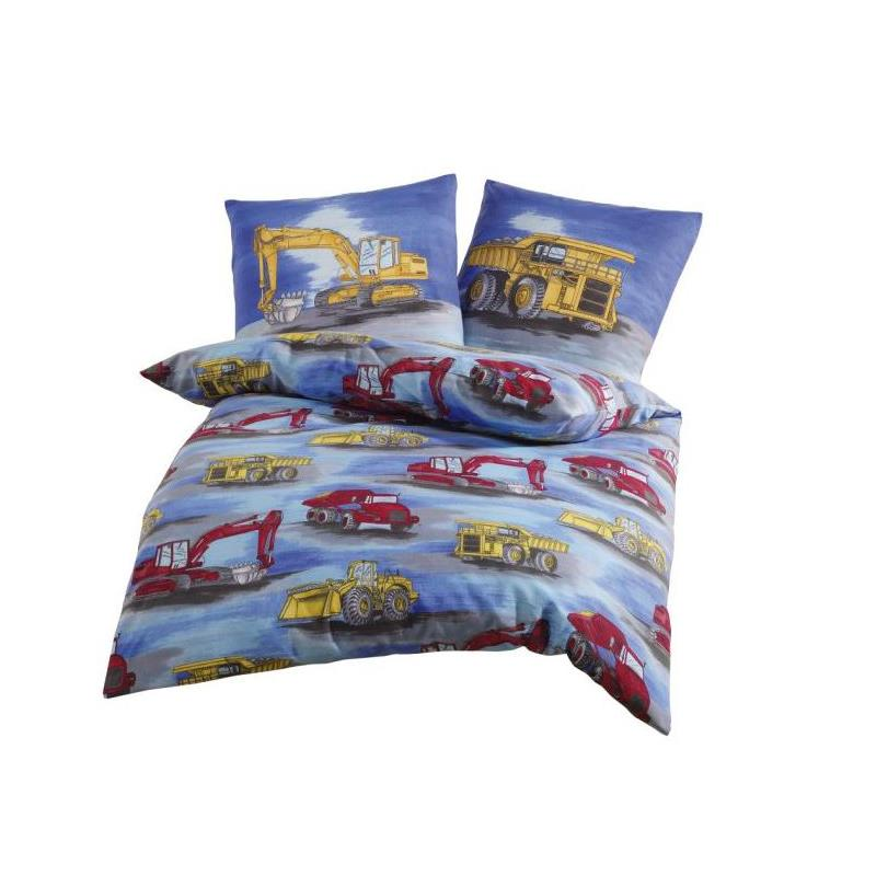 dobnig kinder bettw sche bagger biber kotex100 ebay. Black Bedroom Furniture Sets. Home Design Ideas