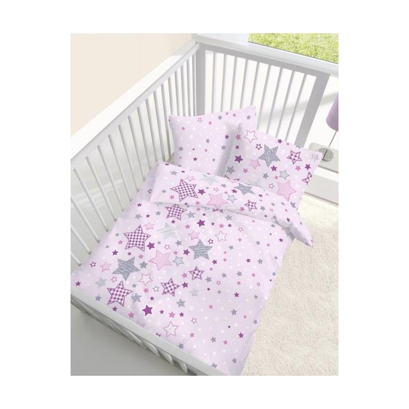 dobnig baby bettw sche patchworksterne rosa biber kotex ebay. Black Bedroom Furniture Sets. Home Design Ideas