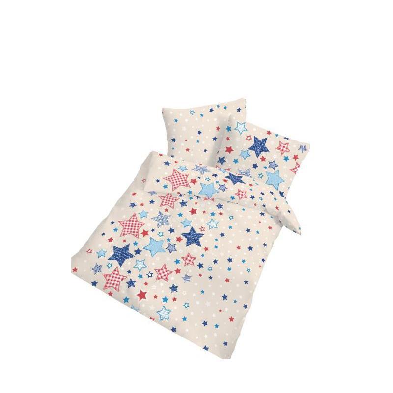 dobnig baby bettw sche patchworksterne blau fiber kotex. Black Bedroom Furniture Sets. Home Design Ideas