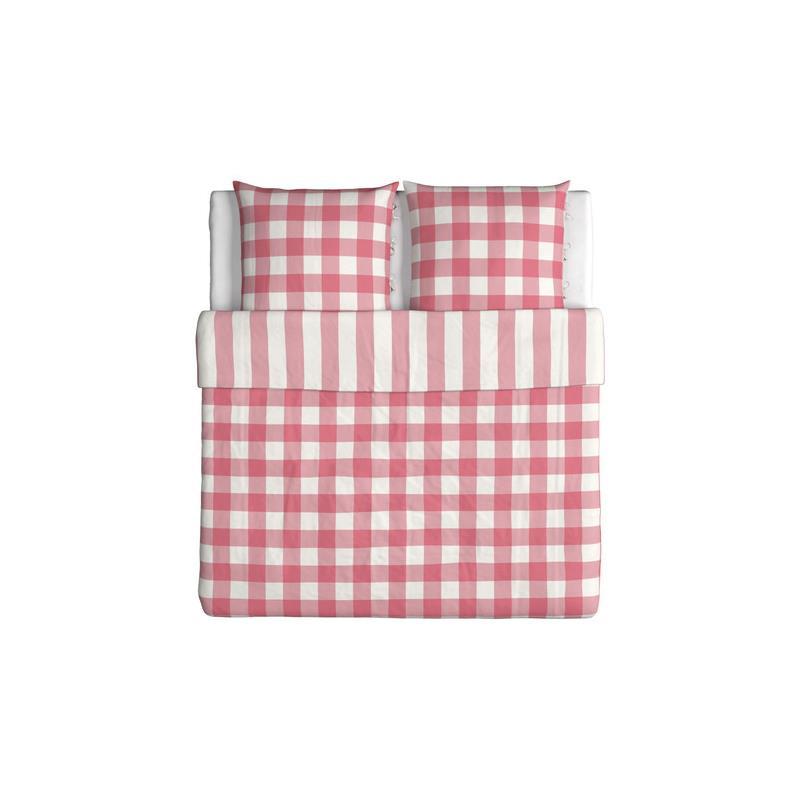 ikea bettw sche emmie ruta rosa wei drei gr en. Black Bedroom Furniture Sets. Home Design Ideas
