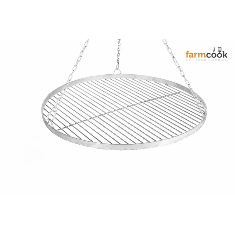 farmcook rost aus edelstahl f r schwenkgrill 4 gr en bis 80 cm grillrost ebay. Black Bedroom Furniture Sets. Home Design Ideas