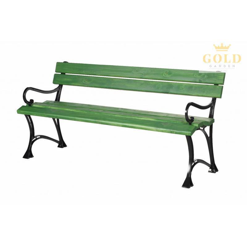 GOLD GARDEN Gartenbank Toskana 3- Sitzer 6 Farben Massivholz Rahmen ...