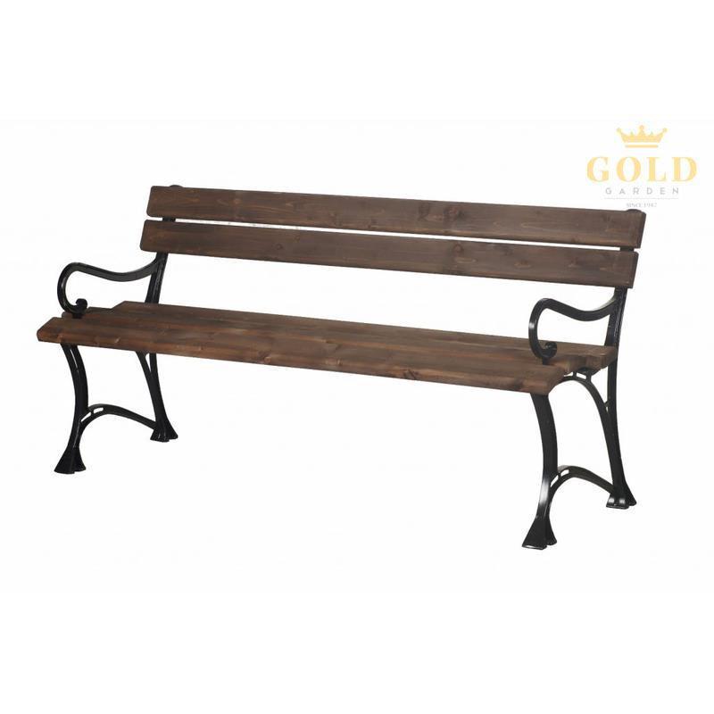 gold garden gartenbank toskana 3 sitzer 6 farben massivholz rahmen aluminium ebay. Black Bedroom Furniture Sets. Home Design Ideas