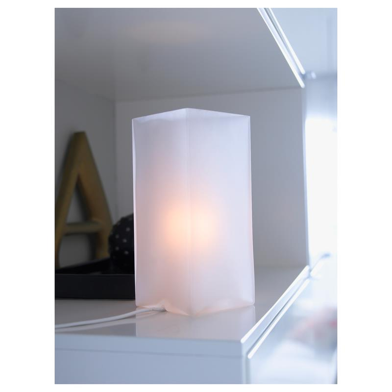 ikea table lamp groenoe frosted glass ebay. Black Bedroom Furniture Sets. Home Design Ideas