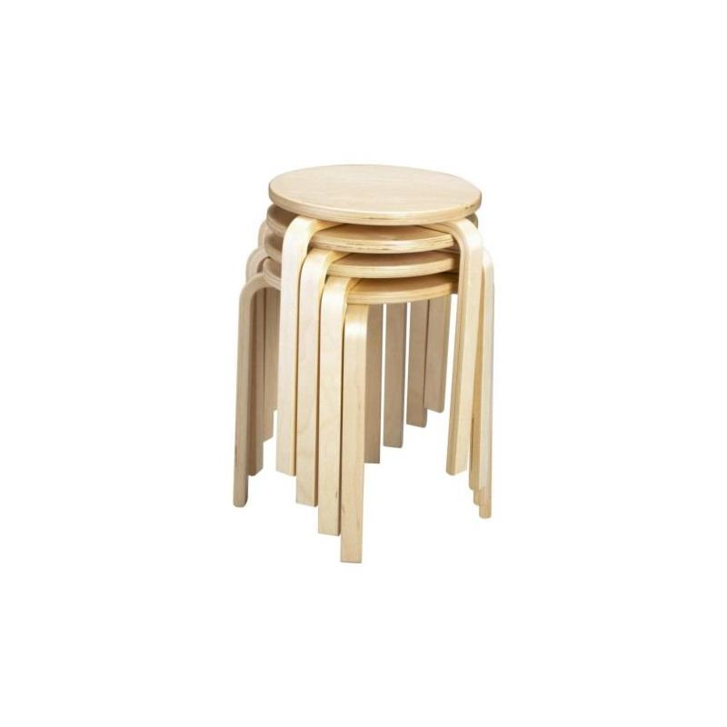 ikea stool frosta birch tree stackable in three colours ebay
