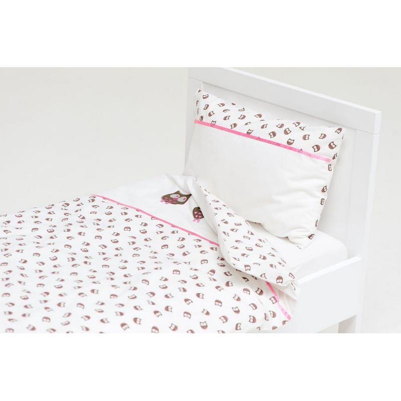 haton kinder bettw sche eule 100x135 in 2 farben ebay. Black Bedroom Furniture Sets. Home Design Ideas