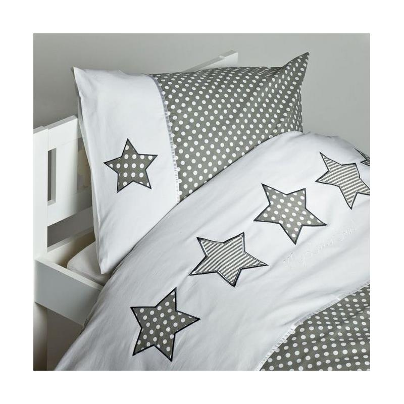 haton kinder bettw sche mit applikation star 100x135. Black Bedroom Furniture Sets. Home Design Ideas