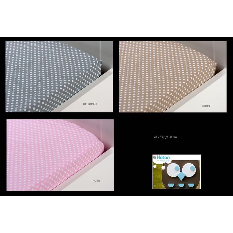 haton kinder spannbettlaken mit punkten 70x140. Black Bedroom Furniture Sets. Home Design Ideas