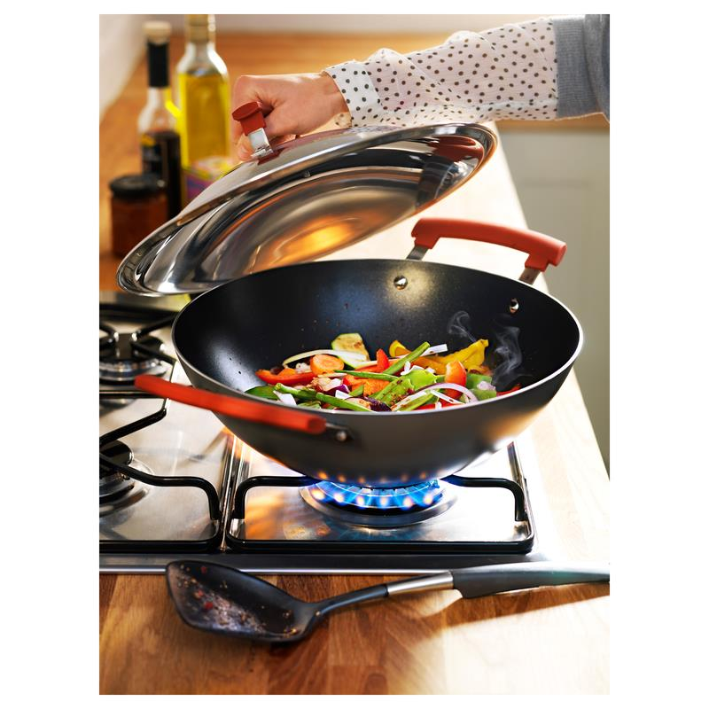 ikea wok with lid identisk 12 3 5in also for induction ebay. Black Bedroom Furniture Sets. Home Design Ideas