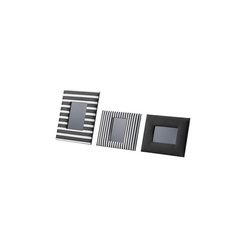 ikea bilderrahmen asarna schwarz wei set 3 st ck ebay. Black Bedroom Furniture Sets. Home Design Ideas