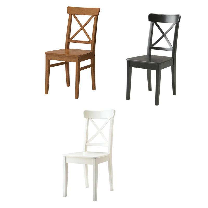 ikea chair ingolf solid wood in three colours ebay. Black Bedroom Furniture Sets. Home Design Ideas