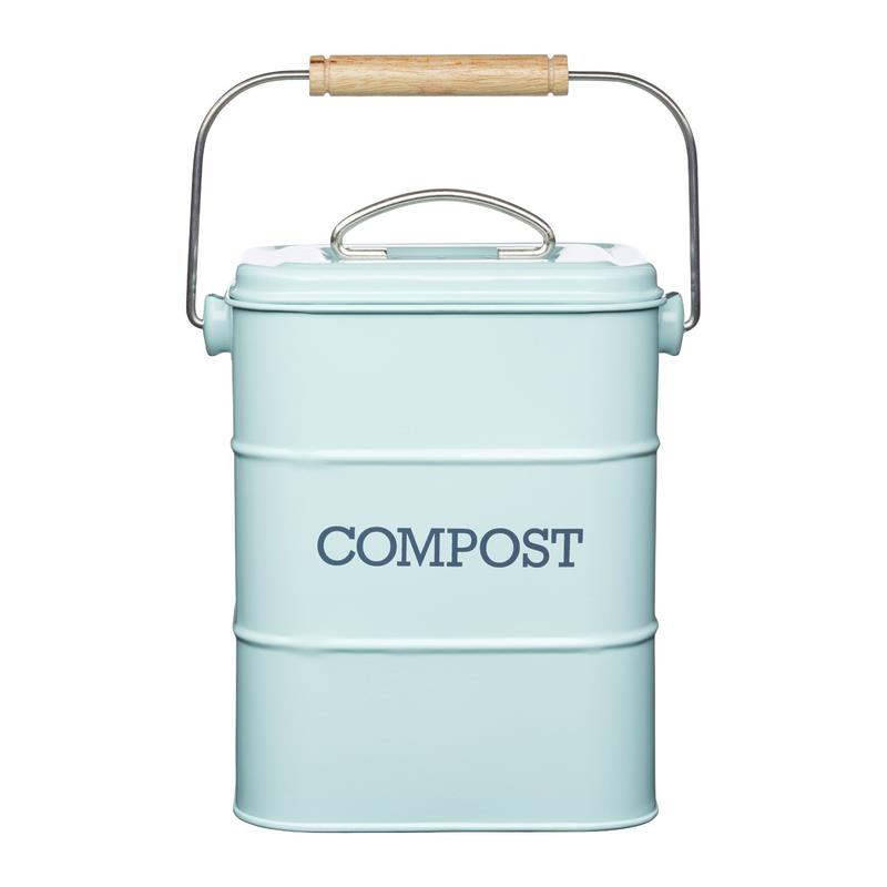Kitchencraft retro seau de compost d chets organiques for Seau compost cuisine