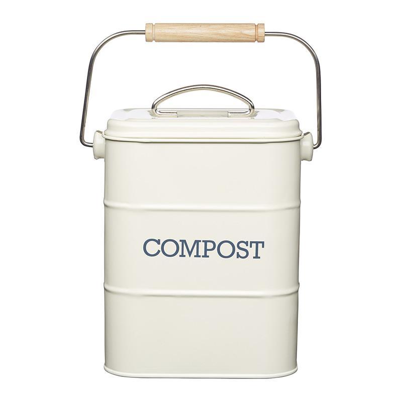 kitchencraft retro komposteimer biom ll abfalleimer emailliert ebay. Black Bedroom Furniture Sets. Home Design Ideas