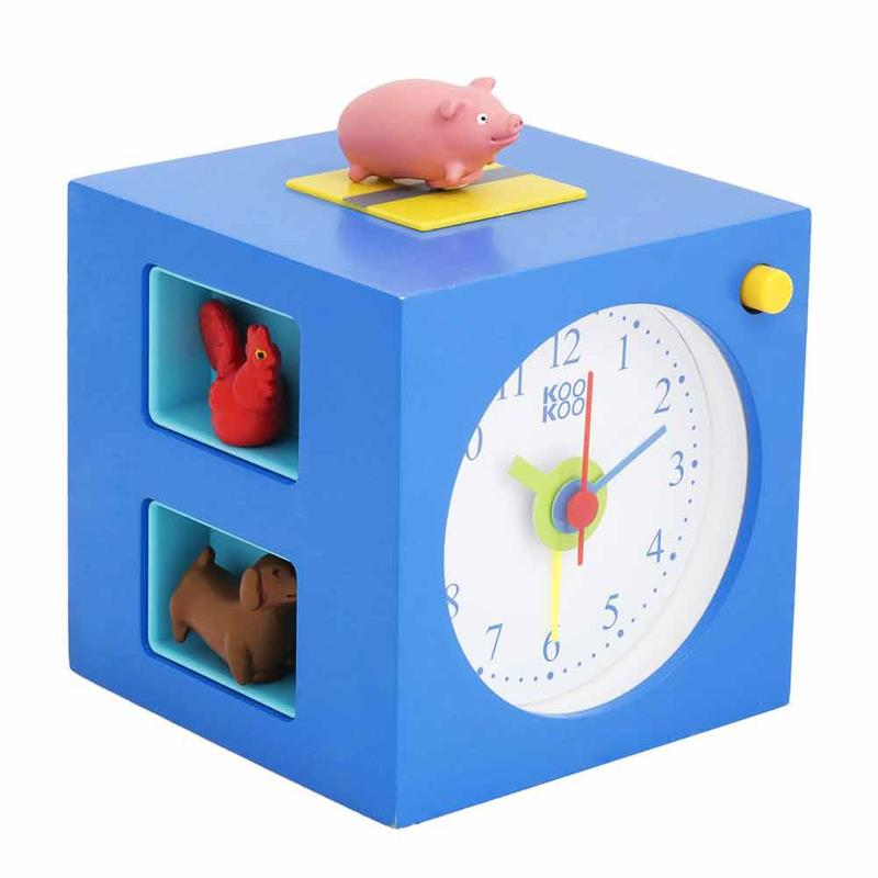 kookoo kinder wecker kids alarm mit tierstimmen. Black Bedroom Furniture Sets. Home Design Ideas