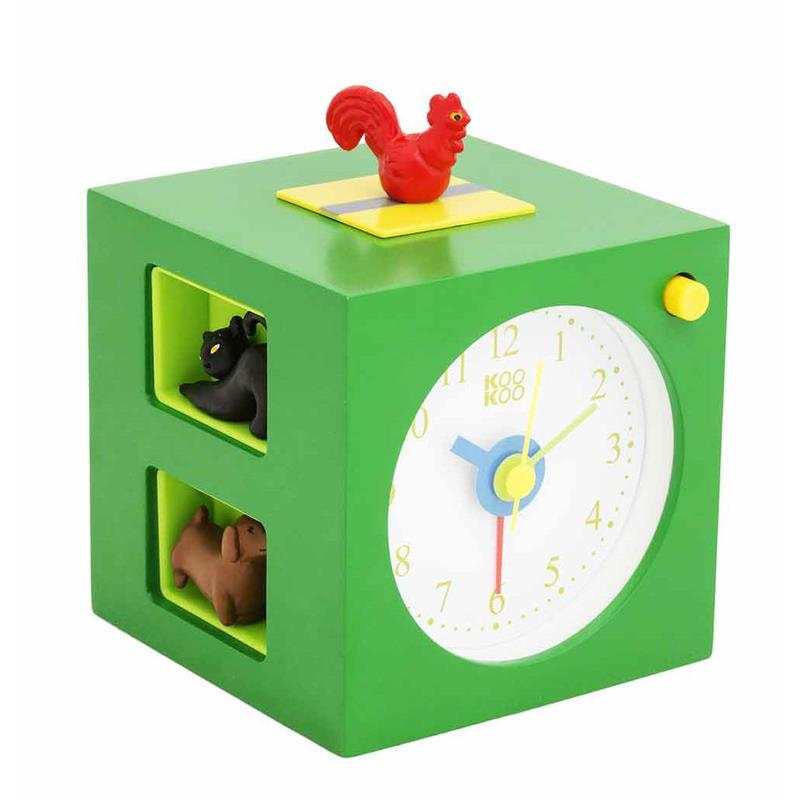 kookoo kinder wecker kids alarm mit tierstimmen ebay. Black Bedroom Furniture Sets. Home Design Ideas