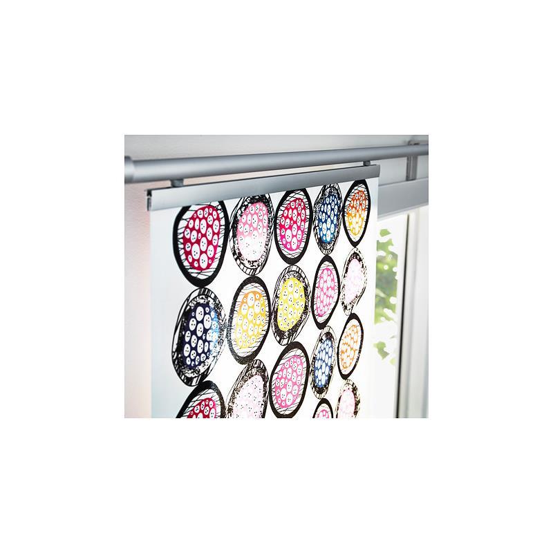 Ikea panneau coulissant mysk austermann rideau panneau japonais multicolore - Panneau coulissant ikea ...
