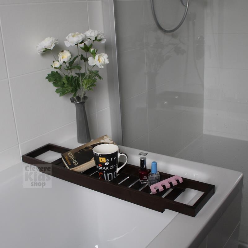 Ikea storage for bathtub bath tray bathtub shelf solid wood dark brown ebay - Mensola bagno ikea ...
