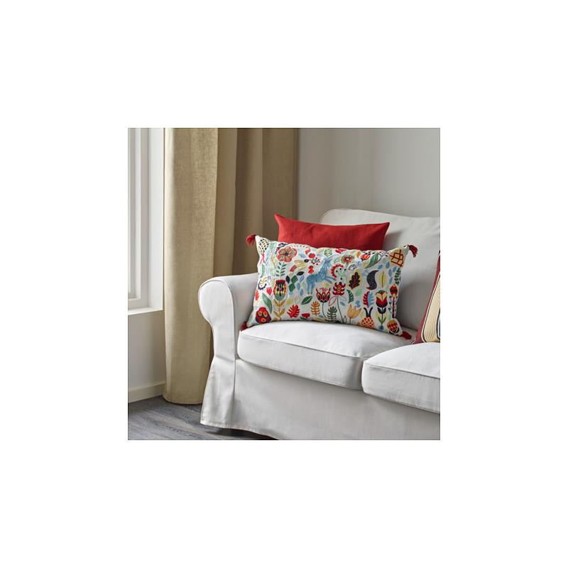 ikea kissen r darv gef llt 40 x 65 cm aufw ndig bestickt ebay. Black Bedroom Furniture Sets. Home Design Ideas