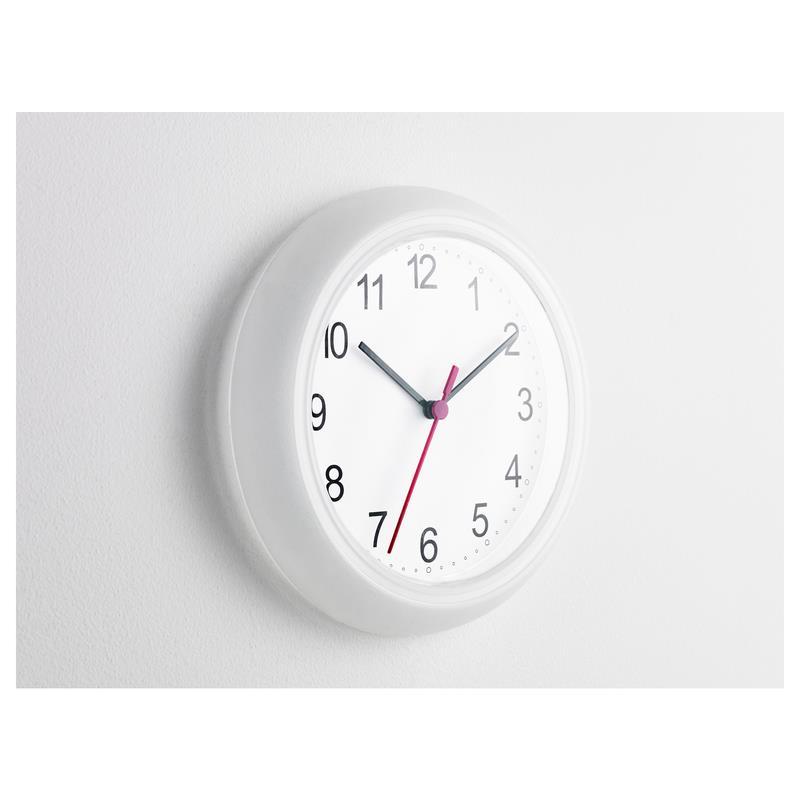 Ikea orologio parete rusch tondo bianco orologio da cucina for Orologio digitale da parete ikea