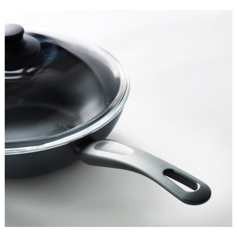 ikea wok mit deckel sk nka 28 cm ebay. Black Bedroom Furniture Sets. Home Design Ideas