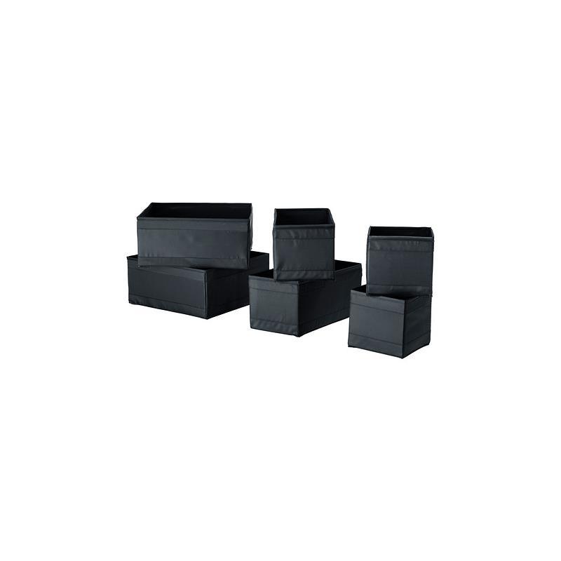 Ikea scatola conservazione skubb set 6 pezzi in 4 colori for Box bimbi ikea