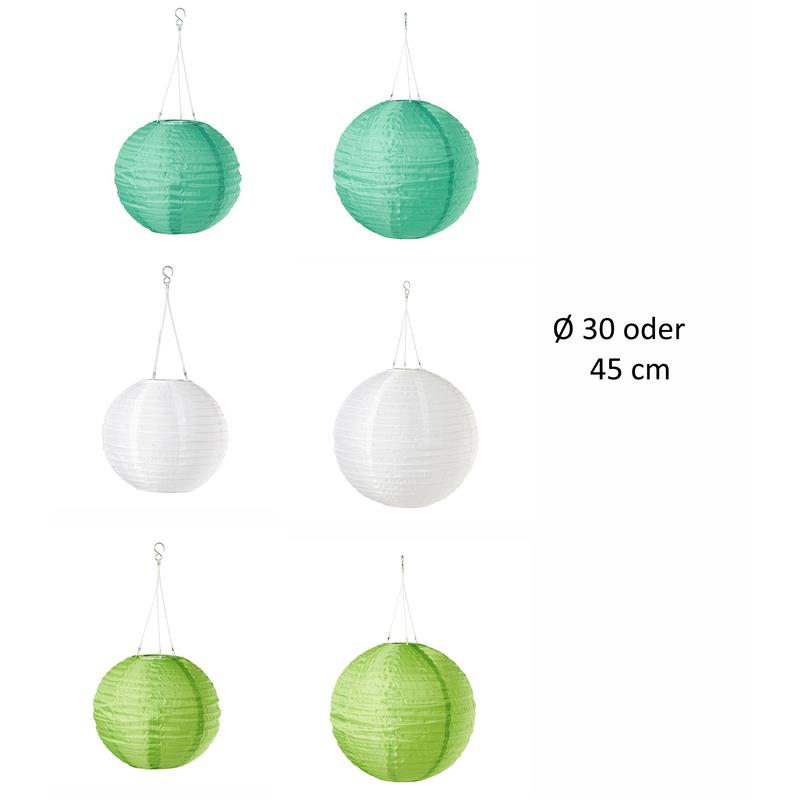 ikea led solarleuchte solvinden japanballon 3 farben 2 gr en ebay. Black Bedroom Furniture Sets. Home Design Ideas