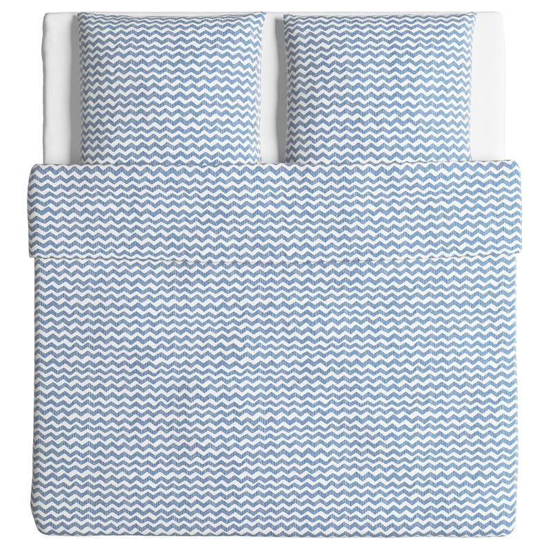 ikea bettw sche garnitur sommar blau drei gr en ebay. Black Bedroom Furniture Sets. Home Design Ideas