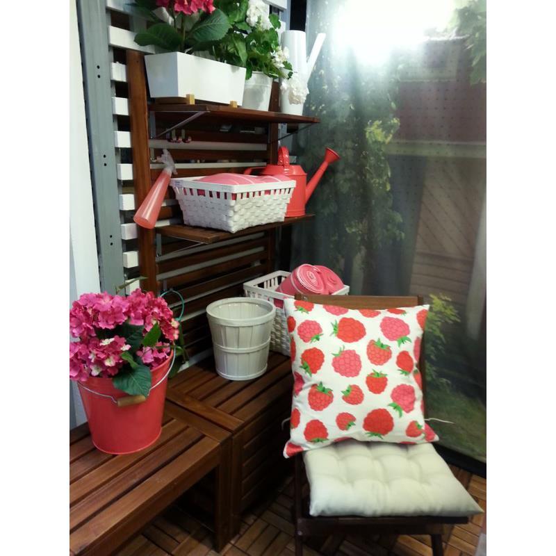 ikea kissenbezug sommar dekokissen sofakissen 50 x 50. Black Bedroom Furniture Sets. Home Design Ideas