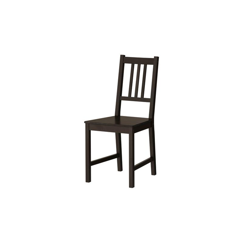 ikea chair stefan solid wood kitchen chair dining room ebay. Black Bedroom Furniture Sets. Home Design Ideas
