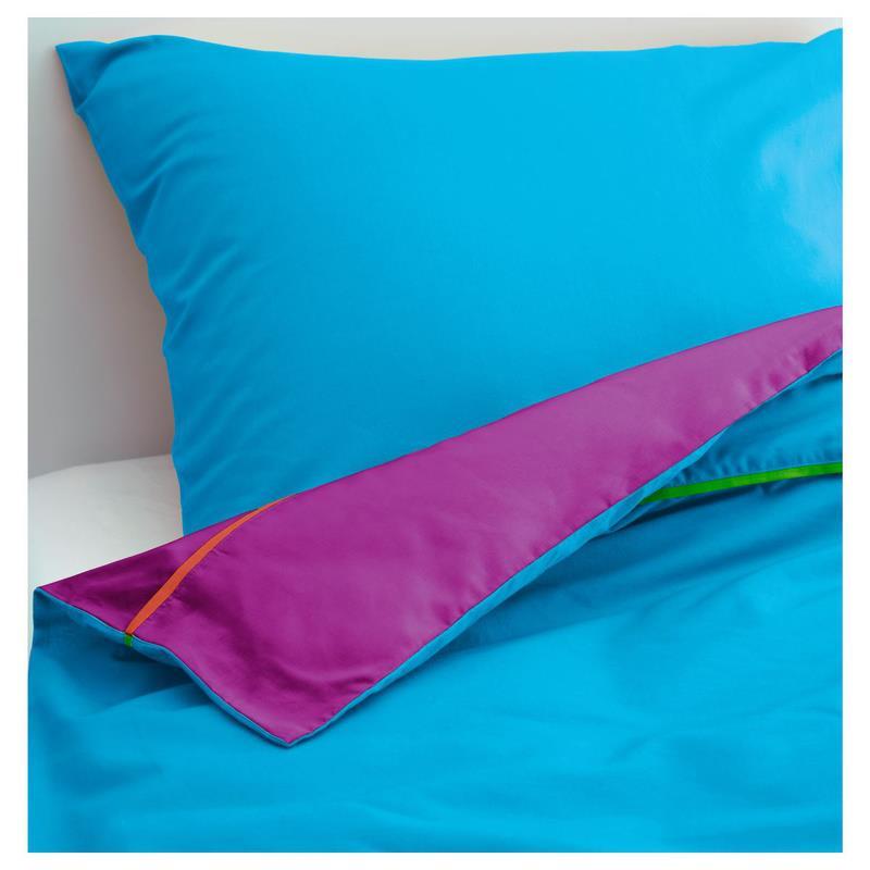 ikea bettw sche garnitur stickat in 4 farben f r kinder jugendliche ebay. Black Bedroom Furniture Sets. Home Design Ideas