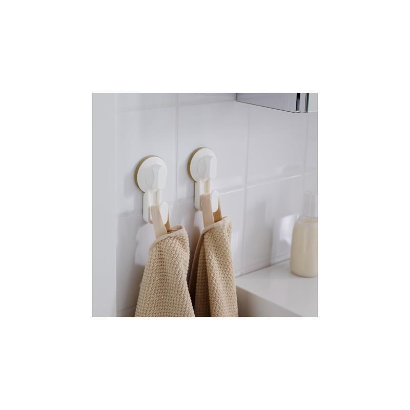 ikea haken stugvik wei 2 st ck mit saugnapf badezimmer k che. Black Bedroom Furniture Sets. Home Design Ideas