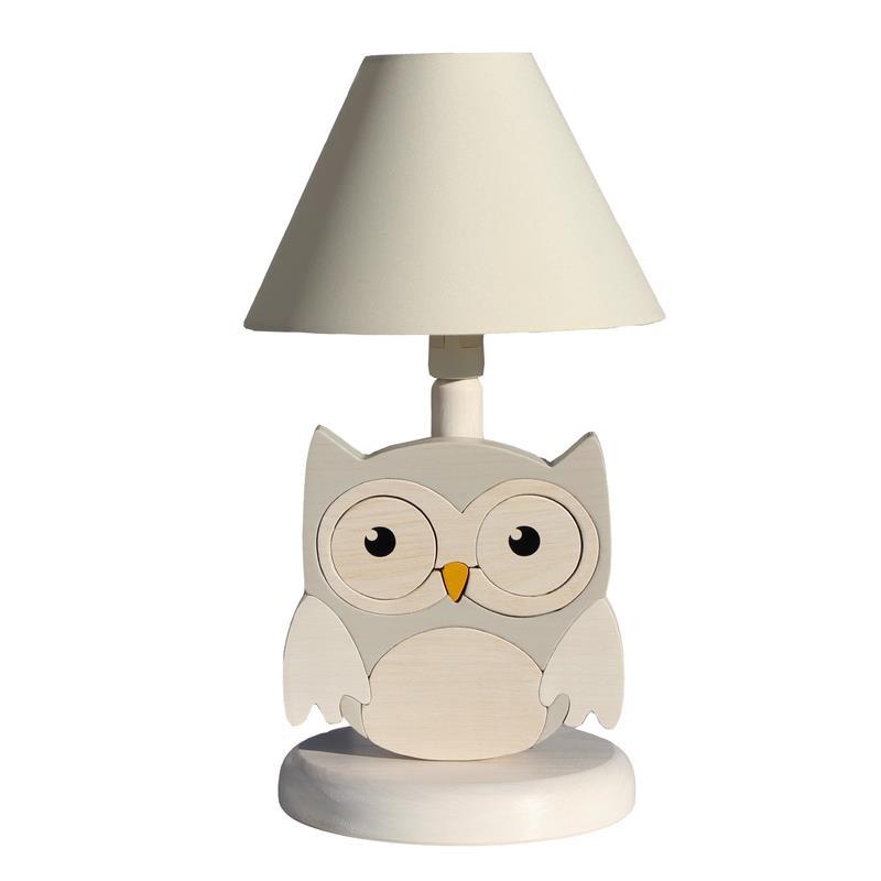 vama design bambini lampada da tavolo gufo procione co comodino legno a ebay. Black Bedroom Furniture Sets. Home Design Ideas