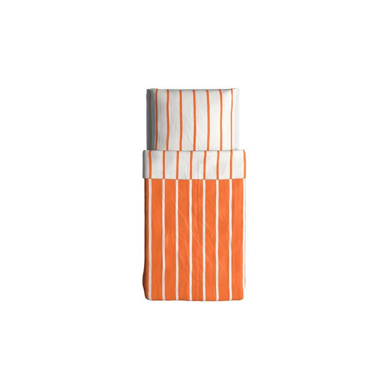 ikea bettw sche tuvbr cka orange wei gestreift drei gr en ebay. Black Bedroom Furniture Sets. Home Design Ideas