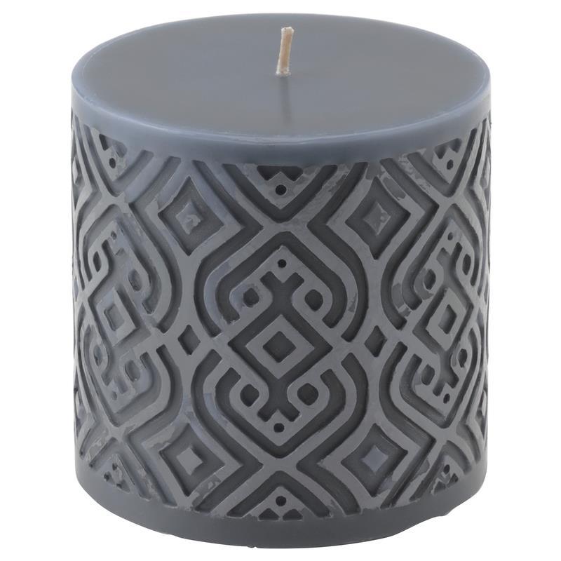 ikea blockkerze vinter gepr gt in 2 farben rot grau stumpenkerze ebay. Black Bedroom Furniture Sets. Home Design Ideas